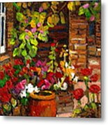 Montreal Cityscenes Homes And Gardens Metal Print by Carole Spandau
