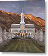 Mount Timpanogos Temple Metal Print by Jeff Brimley