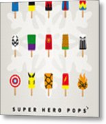 My Superhero Ice Pop - Univers Metal Print by Chungkong Art