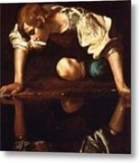 Narcissus Metal Print by Pg Reproductions