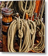 Nautical Knots 16 Metal Print by Mark Myhaver