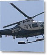 Nypd Aviation Unit Metal Print by Christopher Kirby
