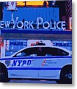 Nypd Color 16 Metal Print by Scott Kelley