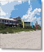Old Casino On An Atlantic Ocean Beach In Florida Metal Print by Allan  Hughes