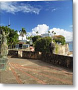 Old City In The Caribbean Metal Print by George Oze