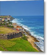 Old San Juan Coastline Metal Print by Stephen Anderson