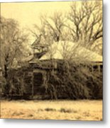 Old School House Metal Print by Julie Hamilton