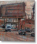 Outdoor Advertising Metal Print by Donald Maier
