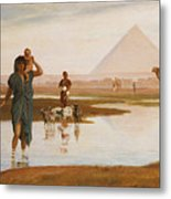 Overflow Of The Nile Metal Print by Frederick Goodall