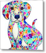 Painted Puppy Metal Print by Nick Gustafson