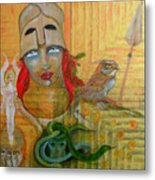 Pallas Athena Metal Print by Erika Brown