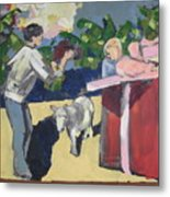 Paris And The Pony Metal Print by Amy Bernays