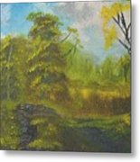 Peaceful Land 12x24 By Artist Bryan Perry Metal Print by Bryan Perry