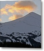 Peak 8 At Dusk - Breckenridge Colorado Metal Print by Brendan Reals