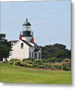 Point Pinos Light - Lighthouse On The Golf Course - Pacific Grove Monterey Central Ca Metal Print by Christine Till