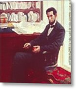 Portrait Of Abraham Lincoln Metal Print by Howard Pyle