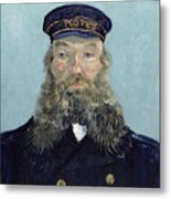 Portrait Of Postman Roulin Metal Print by Vincent van Gogh