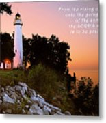 Praise His Name Psalm 113 Metal Print by Michael Peychich