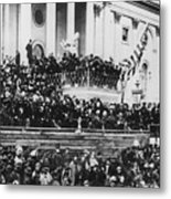 President Lincoln Gives His Second Inaugural Address - March 4 1865 Metal Print by International  Images