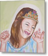 Pretty Princess Metal Print by Anne Cameron Cutri