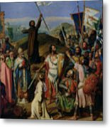 Procession Of Crusaders Around Jerusalem Metal Print by Jean Victor Schnetz