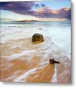 Pulled To The Sea Metal Print by Mike  Dawson
