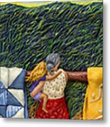 Quilted Harvest Metal Print by Anne Klar