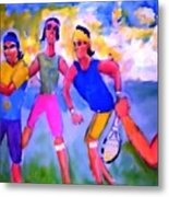 Rafa Tennis At The French Wimbleton And U.s. Open Metal Print by Stanley Morganstein
