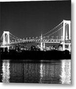 Rainbow Bridge At Night Metal Print by Xkhol