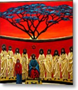 Rastafarian Last Supper Metal Print by EJ Lefavour