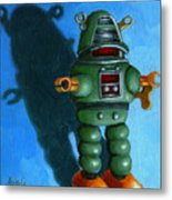 Robot Dream - Realism Still Life Painting Metal Print by Linda Apple