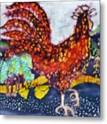 Rooster In The Morning Metal Print by Carol  Law Conklin