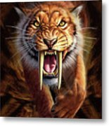 Sabertooth Metal Print by Jerry LoFaro