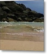 San Juan Beach 7 Metal Print by Anna Villarreal Garbis