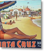 Santa Cruz For Youz Metal Print by Bob Christopher