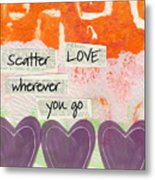 Scatter Love Metal Print by Linda Woods