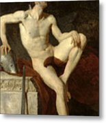 Seated Gladiator Metal Print by Jean Germain Drouais
