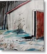 Seeking Shelter Metal Print by John Williams