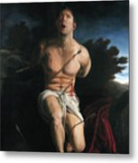 Self Portrait As St. Sebastian Metal Print by Eric  Armusik