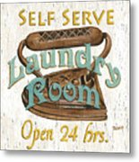 Self Serve Laundry Metal Print by Debbie DeWitt