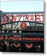 Sf Giants Stadium Metal Print by Kathleen Fitzpatrick