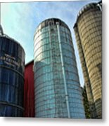 Silos Metal Print by Paul Ward