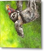 Sloth Birthday Party Metal Print by Steve Asbell