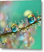 Smokey Rainbow Drops Metal Print by Sharon Johnstone