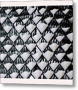 Snow Triangles After Storm Metal Print by Rene Crystal