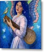 Songbird For A Blue Muse Metal Print by Sue Halstenberg
