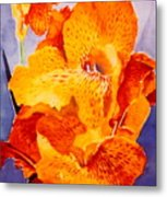 Spotted Canna Metal Print by M Diane Bonaparte