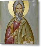 St Andrew The Apostle And First-called Metal Print by Julia Bridget Hayes
