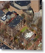 St Anthony Hall And St Elmo Fraternity Houses University Of Pennsylvania Metal Print by Duncan Pearson
