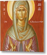 St Elizabeth The Wonderworker Metal Print by Julia Bridget Hayes